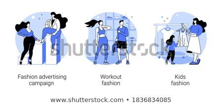 Agencia resumen moda industria modelo agente Foto stock © RAStudio