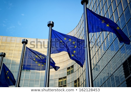 EU flags in front of European Commission Stock photo © dmitry_rukhlenko