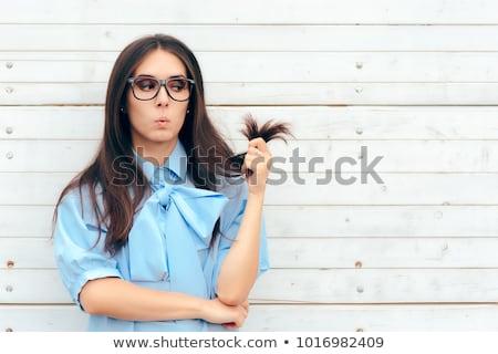 Split hair tips Stock photo © phakimata