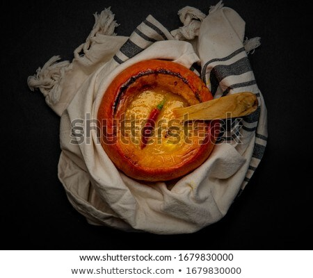 Mini Pumpkins Isolated on a Black Cloth Background Stock photo © Frankljr