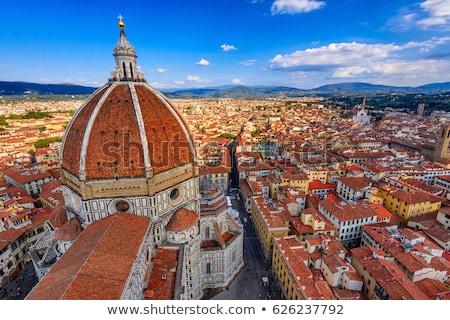 Florence Olaszország légifelvétel Firenze katedrális naplemente Stock fotó © vichie81