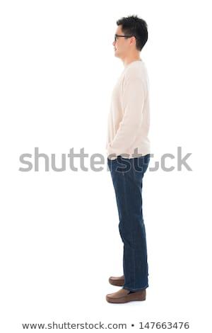 Asia Man Standing On White Foto d'archivio © szefei