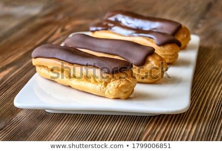 eclair chocolate dessert Stock photo © sirylok