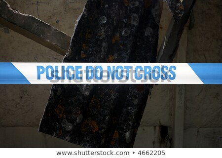 Close up of a line of British Police do not cross tape. Stock photo © latent