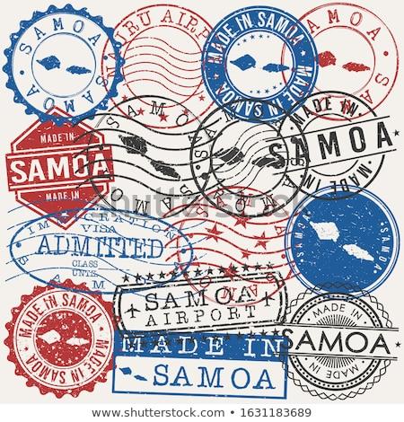 E-mail Samoa imagem carimbo mapa bandeira Foto stock © perysty