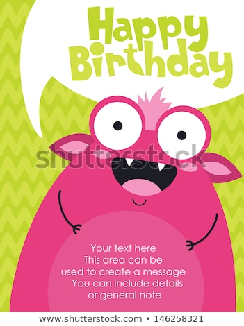 birthday card with funny little girl Stock photo © balasoiu