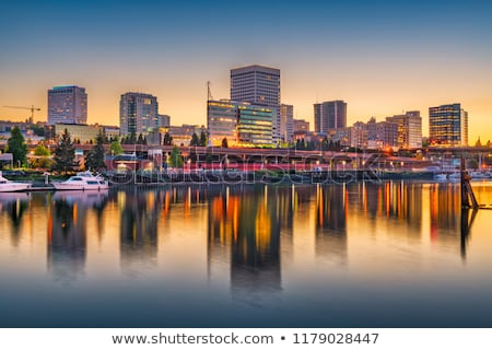 Sunset Thea Foss Waterway Downtown Tacoma Waterfront Skyline Wor Stock photo © cboswell