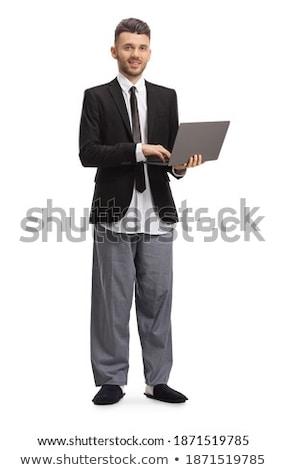 pak · stropdas · zakenman · poseren · stand - stockfoto © lunamarina