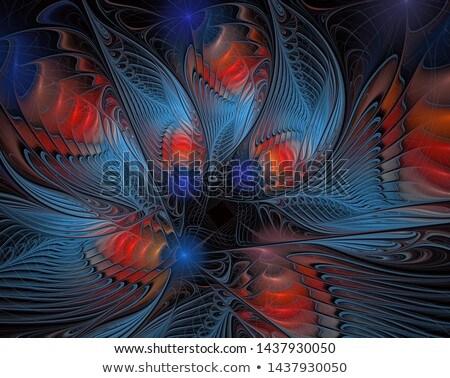 Soyut fraktal dizayn doku sanat mavi Stok fotoğraf © ArenaCreative