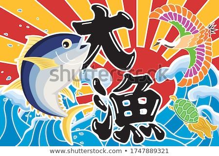 połowów · kobieta · lądowanie · netto · stałego · molo - zdjęcia stock © jayfish