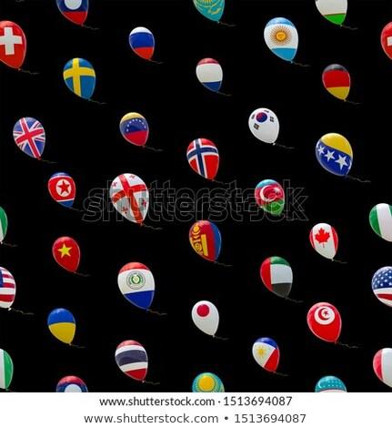 Léggömb színes zászló amerikai Grúzia boldog Stock fotó © vepar5