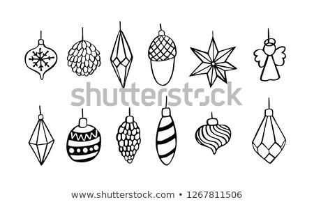 Cute diamond christmas ball, vector illustration Stock photo © carodi