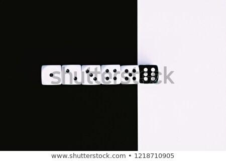 siyah · oynama · zarlar · 3d · render · grup - stok fotoğraf © stryjek