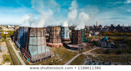 Industrielle pollution bleu nuageux ciel nuages Photo stock © gllphotography