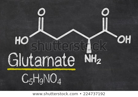 chemical formula of glutamate on a blackboard Stock photo © Zerbor