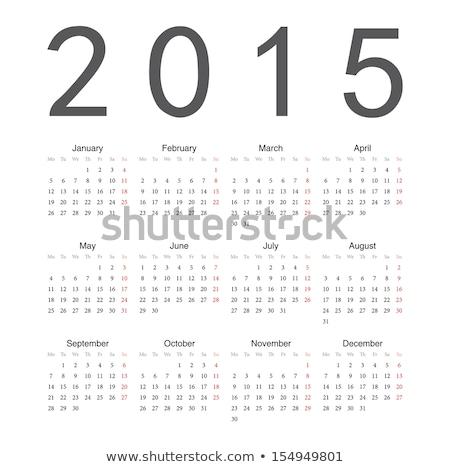 2015 naptár fehér üzlet háttér asztal Stock fotó © lirch