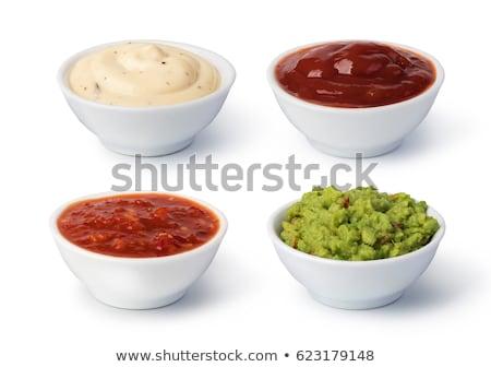 Mártás salsa konyha paradicsom forró friss Stock fotó © yelenayemchuk