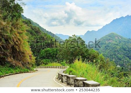 Mountains road, Philippines Stock photo © joyr