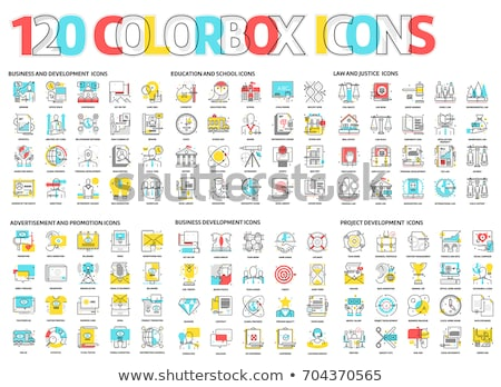 Education Colored Line Icons Stock photo © AnatolyM