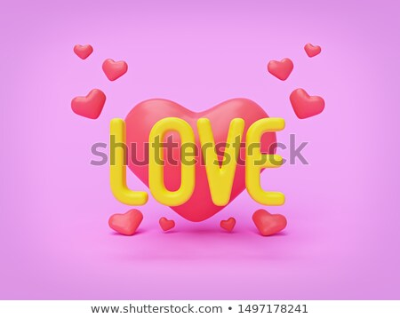 3d group of words shaping a heart on pink background Stock photo © vipervxw