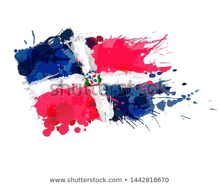 República Dominicana país bandera mapa forma texto Foto stock © tony4urban