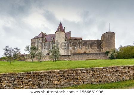 Chateau Chateauneuf-en-Auxois in France Stock photo © LianeM