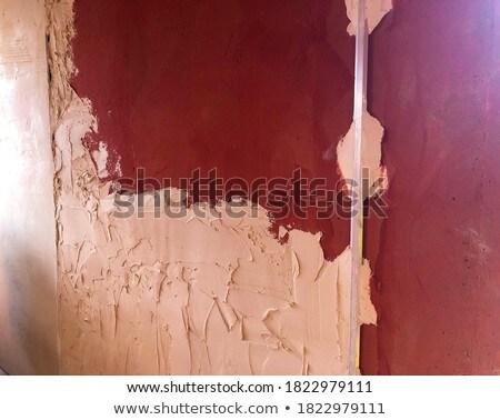 ストックフォト: ワーカー · 石膏 · 孤立した · 白
