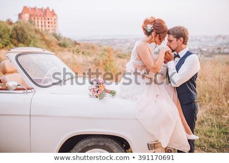 Vers echtpaar zoenen auto vrouw man Stockfoto © IS2