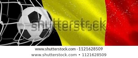 Futballabda gól net digitálisan generált zászló Stock fotó © wavebreak_media