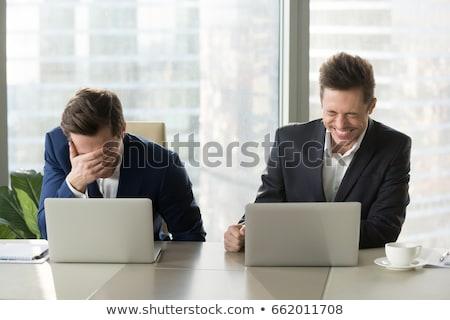 Fiatal üzletember helyzet öltöny portré vállalati Stock fotó © Minervastock