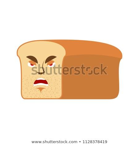 Pane arrabbiato pezzo aggressivo emozione isolato Foto d'archivio © popaukropa