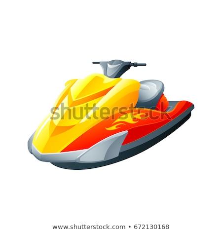 水 ジェット スクーター 表示 熱帯ビーチ スポーツ ストックフォト © boggy