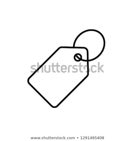 Címke vonal ikon fehér vektor üzlet Stock fotó © Imaagio