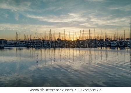 Słońce marina San Francisco wygaśnięcia wody Zdjęcia stock © yhelfman