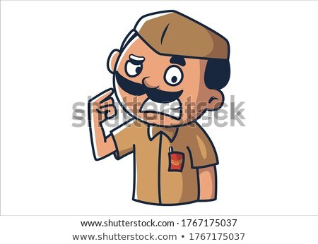 Cartoon Angry Mail Carrier Man Stock photo © cthoman