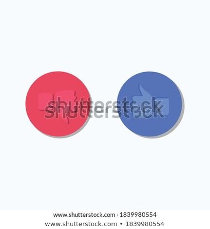 like thumb up icon flat design vector illustraion isolated on modern background stock photo © kyryloff
