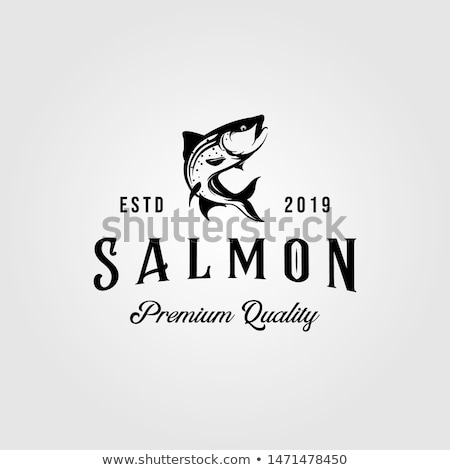 fresh seafood silhouette template stock photo © bluering