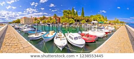 porto · verão · panorâmico · ver · região · céu - foto stock © xbrchx