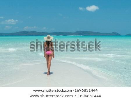 Austalian beach bikini woman travel vacation Stock photo © lovleah