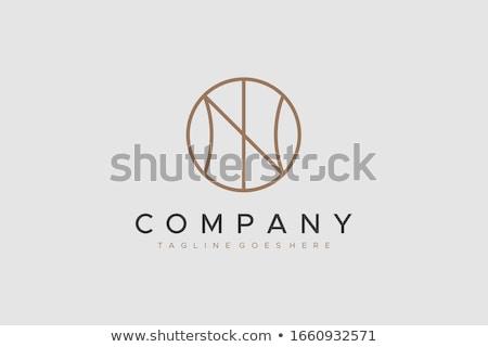 Vektor logoterv n betű szimbólum felirat levél Stock fotó © blaskorizov