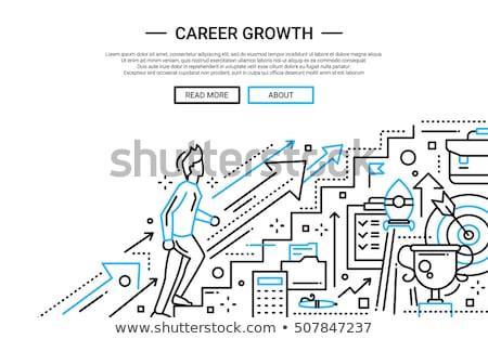 リーダーシップ バナー ヘッダ ビジネスマン ノートパソコン リーダー ストックフォト © RAStudio