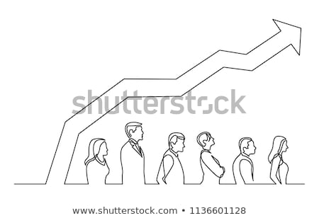 Person standing with increasing graph concept Stock photo © ra2studio