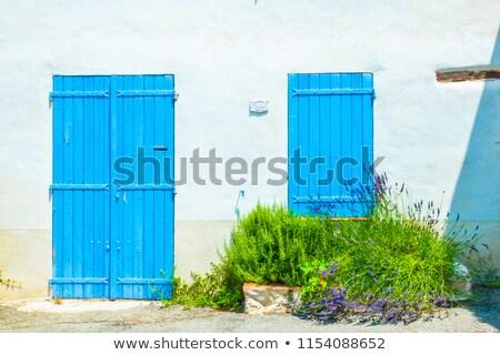 eski · kahverengi · kapı · taş · giriş · ortaçağ - stok fotoğraf © boggy