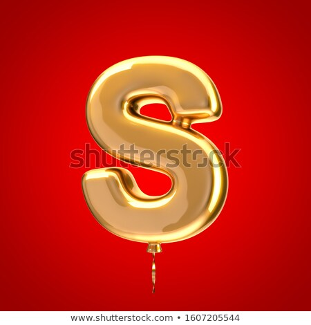 Holiday Font Letter S Isolated Stock photo © Lightsource