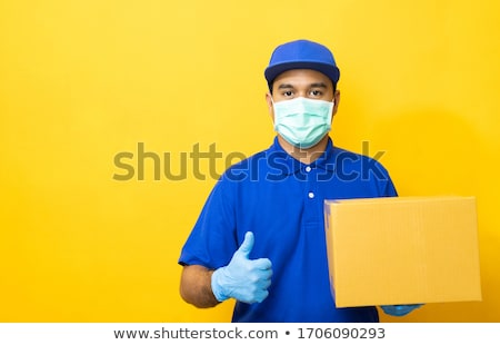 Movers Holding Cardboard Boxes Stock photo © AndreyPopov