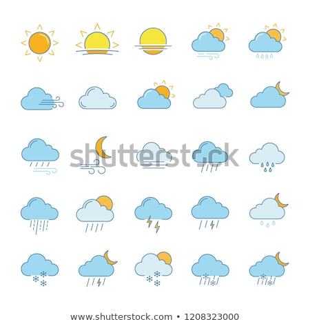 Sun. Filled color icon. Weather vector illustration Stock photo © Imaagio