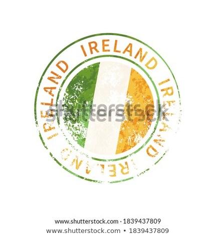 Írország felirat klasszikus grunge lenyomat zászló Stock fotó © evgeny89