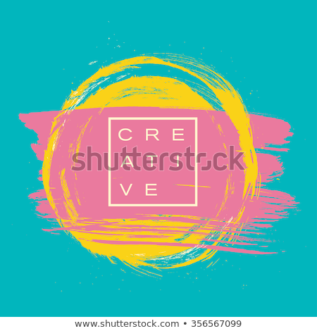 Abstract Background With Rounded brush strokes. Doodle Vector Seamless Pattern. Stock photo © samolevsky
