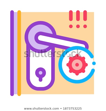 Buraco de fechadura ícone vetor ilustração assinar Foto stock © pikepicture