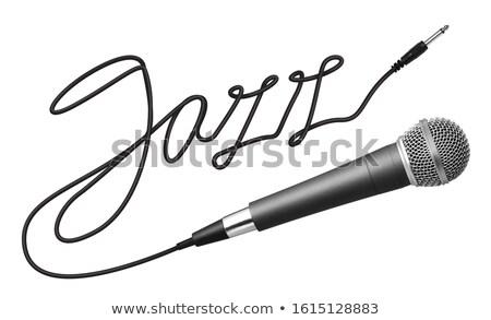 Jazz mot câble micro texte blanche Photo stock © goir